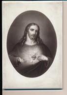 Image Pieuse Sur Plaque De Porcelaine Sacré-coeur De Jésus Format 11x16cm Cadre à Poser - Images Religieuses