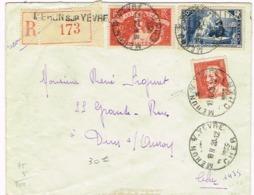 R3- N°308 Art Et Pensée Lettre Recommandée Melun S Yevre Cher - Marcophilie (Lettres)