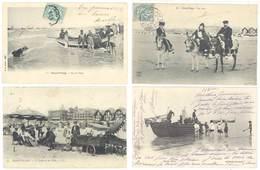 4 Cpa Berck Plage - Bateau, Plage, ânes, Casino & Villas  ( S. 3092 ) - Berck