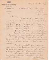 SUISSE AARBERG Berne COURRIER 1907 HOTEL De La Couronne TRACHSEL Frères   A68 - Suisse
