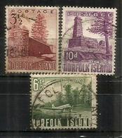 Année 1954, 3 Timbres Oblitérés 1 ère Qualitè (Salt House,Warders Tower,Airfield)  Côte 12,00 € EUR - Ile Norfolk