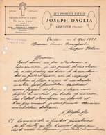 SUISSE CERNIER Neuchatel CCOURRIER 1926 Aux Produits D' Italie Fruits Vin  Joseph DAGLIA A68 - Switzerland