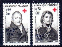CFA REUNION 362 363 CROIX ROUGE ** MNH LUXE Sans Charnière - La Isla De La Reunion (1852-1975)