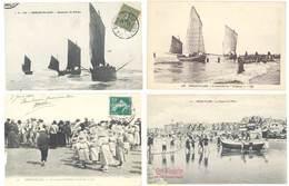 4 Cpa Berck Plage - Bateaux De Pêche, Voiliers, Enfants à L'Hôpital Maritime, ...  ( S. 3093 ) - Berck