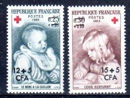 CFA REUNION 366 367 CROIX ROUGE ** MNH LUXE Sans Charnière - La Isla De La Reunion (1852-1975)