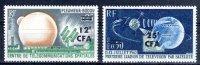 CFA REUNION 355 356 TELECOMMUNICATIONS SPACIALES ** MNH LUXE Sans Charnière - La Isla De La Reunion (1852-1975)