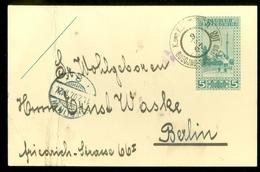 BOSNIEN: HERZEGOWINA 5 HELLER GELOPEN IN 1907 Van BUGOJNO Naar BERLIN  (11.452f) - Bosnien-Herzegowina