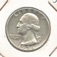 Monnaie , ETATS UNIS , Liberty , 1956 , Quarter Dollar , 2 Scans , United States Of America - 1932-1998: Washington
