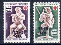 CFA REUNION 378 379 CROIX ROUGE ** MNH LUXE Sans Charnière - La Isla De La Reunion (1852-1975)