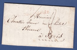 79 VENDEE- LAC - 79 BOURBON-VENDEE Rouge -  Du 8 Décembre 1816 - Pour PARIS - Timbre à Date à 3 Cercles Au Verso - 1801-1848: Precursors XIX