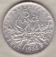 5 Francs Semeuse 1966 En Argent - France