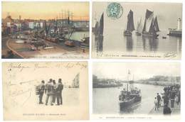 4 Cpa Boulogne Sur Mer - Bateaux De Pêche, Port, Matelots, ..  ( S. 3094 ) - Boulogne Sur Mer