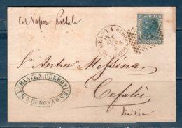 1875 Lettera  GENOVA / UFF.PORTO (Col Vapore Postale) Per Cefalù - 1861-78 Vittorio Emanuele II