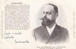 12179-S.E. GALIMBERTI AVV. TANCREDI-MINISTRO DELLE POSTE E TELEGRAFI-1901-FP - Personaggi