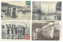 4 Cpa Boulogne Sur Mer - Mgr Dutoit, Bains, Baigneuses,  ..  ( S. 3096 ) - Boulogne Sur Mer