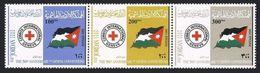 Jordan 1675 Ac Strip,MNH. Geneva Convention,50th Ann.2000.Red Cross,flag. - Jordan