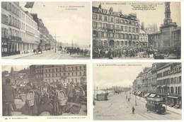 4 Cpa Boulogne Sur Mer - Quai Gambetta, Tramway, Halle Aux Poissons, ...  ( S. 3097 ) - Boulogne Sur Mer