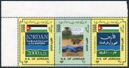 Jordan 1678 Ac Strip,MNH. Millennium,2000.Flag,River,fish. - Jordan