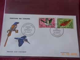 FDC De L Archipel Des Comores De 1967 ( Serie Des Oiseaux) Dont Poste Aerienne - Lettres & Documents