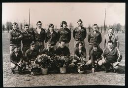 BEERVELDE FOTO 14 X 9 CM - 19743  VOETBAL KAMPIOENPLOEG SK.BEERVELDE - AFSCHEID DOELMAN PIERRE VELGHE - Lochristi