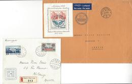 SUISSE 2 LETTRES 1938 AARAU BELLINZONA LUFTPOST + GENEVE BASEL AERO /FREE SHIPPING REGISTERED - Marcophilie