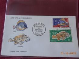 FDC De L Archipel Des Comores De 1968 ( Serie Des Poissons) Dont Poste Aerienne - Comores (1950-1975)