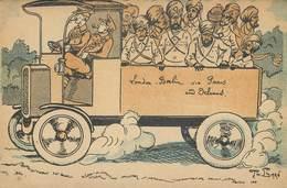 ANGLAIS ET INDOUS (indiens) - Guerre 1914/18;carte Illustrée Par Th. Barn. - Guerre 1914-18