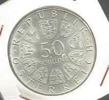 Monnaie , AUTRICHE , Republik Osterreich , 50 Schilling , 1849-1974 , GENDARMERIE IN . OSTERREICH , Frais Fr 1.55e - Autriche