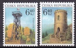 2003, Tschechische Republik, Ceska, 359/60, Aussichtstürme. MNH ** - Tschechische Republik