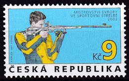 2003, Tschechische Republik, Ceska, 361,  Europa-Meisterschaften Im Schießen. MNH ** - Tschechische Republik