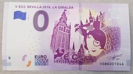 Primer Billete Euro- Souvenir De Sevilla. Sevilla 2018. - EURO