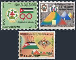 Jordan 1694-1696,MNH. Scouting In Jordan-90,2000.Flag - Jordan