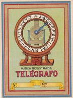 CHC MARCA REGISTRADA TELEGRAFO ETIQUETA LABEL ETIQUETTE CIRCA 1915 - BLEUP - Etiketten