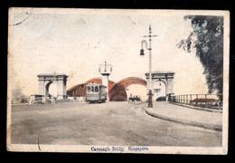 SINGAPORE - 1922 - CAVENAGH BRIDGE - TRAMWAY - TASSATA IN ARRIVO CON 50 Cent. - Singapore