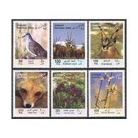 Jordan 1706-1711,MNH. Flora & Fauna 2000.Dove,Arabian Oryx,Caracal,Red Fox,Iris, - Jordan