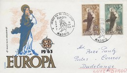 EU83   Europa 1963  FDC  Espagne   TTB - 1963
