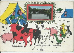 """Albias-""""Salutations Distinguées Du Camping D'Albias"""" - Albias"""