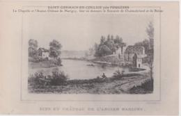 Bs - Cpa SAINT GERMAIN En COGLAIS Près Fougères (Ille Et Vilaine) - La Chapelle Et L'ancien Château De Marigny - Francia