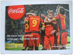 Coca Cola De Rode Duivels Les Diables Rouges Winter 2013-2014  Carte Kaart Boomerang Belgique België Pub - Soccer