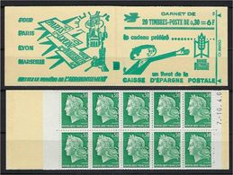 "FR Carnet YT 1536A-C1 "" Marianne De Cheffer "" 1964 Neuf** - Booklets"