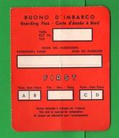 Alitalia Avion Flights Buono D'imbarco Aereo  Coupon Anni 60 - Biglietti Di Trasporto