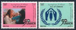 Jordan 1724-1725,MNH. UN High Commissioner For Refugees,50th Ann.2000. - Jordanie
