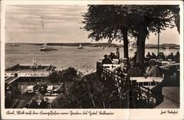 ! Postkarte, Ansichtskarte Kiel, Garten Hotel Bellevue, Kriegsschiffe, Marine Feldpost, 1940, Schleswig-Holstein - Kiel