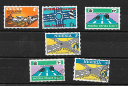 Nigeria 1972 Driving Rightl, Complete Set  LMM Plus 1/6d And 3/- Used  (6971) - Nigeria (1961-...)