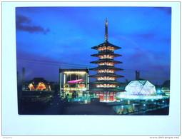 Japon Japan World Exposition Osaka 1970 Japanese Pavilions At Night Pavillon Japonnais - Osaka