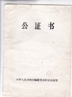 CERTIFICADO SOLTERIA CHINO CONSUL EMBAJADA ARGENTINA CIRCA 1972 - BLEUP - Historical Documents
