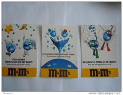 M&M's 3 Kaarten De Blauwen Chocolade Chocolat Reclame Boomerang 1997 - Advertising
