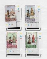 Trinidad 1984; Chess Serie Cornerstamps With Printer Remarks - Trindad & Tobago (1962-...)