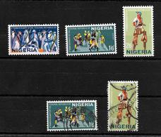 Nigeria 1967 Anniversary Of Republic Complete Set LMM Plus 1/6d And 2/6d Used (6974) - Nigeria (1961-...)