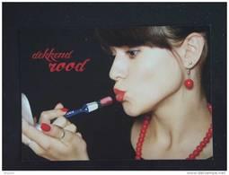 "Carte Kaart Boomerang Belgique België ""Dekkend Rood""  Vrouw Rode Lippen Femme Pub Gamma - Publicité"